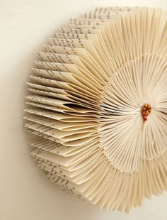 """From a repurposed book. I have such trouble destroying or tossing books; not sure I could do the crafts in this book, """"The Repurposed Library: 33 Craft Projects that Give Old Books New Life"""" Would like to see the book, at least. Old Book Art, Old Books, Diy Paper, Paper Art, Paper Crafts, Diy Crafts, Altered Books, Altered Art, Book Projects"""