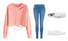 """""""Pretty and pink"""" by katelyn-style ❤ liked on Polyvore featuring George and Vans"""