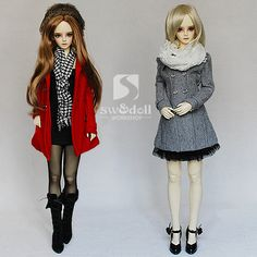 BJD doll clothes factory Slim woolen coat] Multicolor 1 / 3LUTS.DOD.AS.DZ.SD baby clothes - Taobao