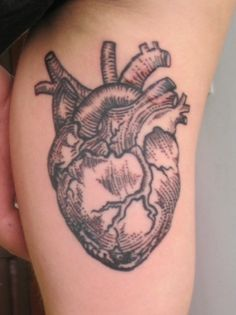 heart tattoo-you