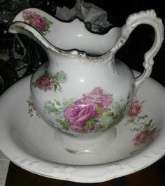 Antique Bowl and Pitcher | eBay