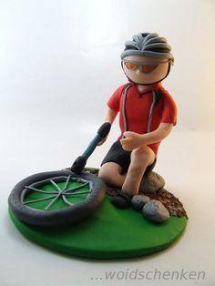 Tortenfigur Radfahrer