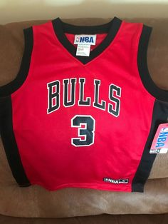 ff2c7581a03 Chicago Bulls Dwyane Wade  3 Nba Brand Basketball Jersey NWT Size S 6-7