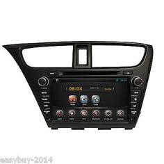Pure Android 4.4 Car DVD,Stereo,GPS,Navigation For 2014Honda Civic Radio,BT,Ipod