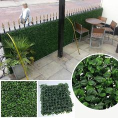 Artificial Privacy Fence Fake Hedges 50X50cm Outdoor Artificial ...