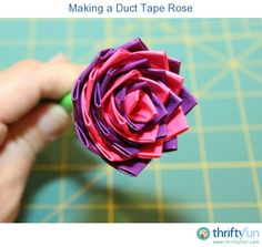 This is a guide about making a duct tape rose. Duct tape has become a popular crafting medium.
