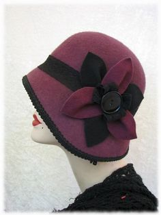 I love hats, but my big ole melon never fits. This lovely cloche had would be stunning... on someone else.