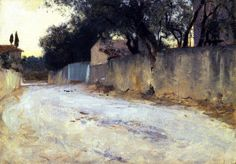 A Road in the South / John Singer Sargent - circa 1878-1880