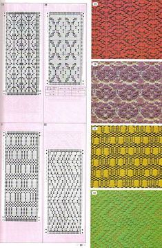 Pattern Library for Punch Card Knitters №1 1973 Вивинг