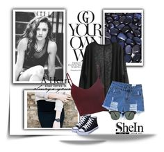 """""""Sheinside"""" by lugavicamina ❤ liked on Polyvore featuring moda, Glamorous ve Ray-Ban"""