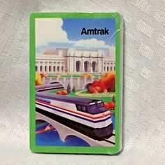 Amtrak Cool Art Railroad Playing Cards Train Ads Set Philadelphia 30th St VTG #Stardust