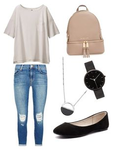 """""""Untitled #2"""" by justine-frial on Polyvore featuring White House Black Market, J Brand, Verali, I Love Ugly, Uniqlo and MICHAEL Michael Kors"""