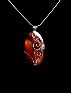 "For the character ""Life."" Red Swirl Agate Jewelry by Jan Brieger-Scranton - Red Swirl Agate Fine Art Prints and Posters for Sale Rock Jewelry, Agate Jewelry, Metal Jewelry, Pendant Jewelry, Beaded Jewelry, Handmade Jewelry, Stone Jewelry, Jewlery, Diy Schmuck"