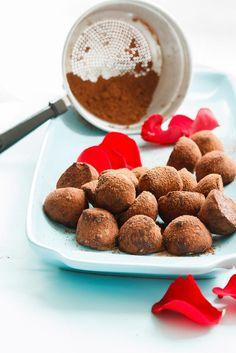 Recette de truffes en chocolat, boules de dessert, bonbons au chocolat, chocolat saint valentin