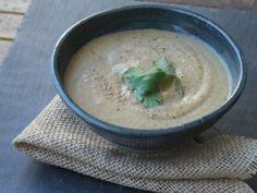cauliflower coconut lemongrass soup; {TakenTen version with cilantro  jalapeno, coconut, lime pesto }