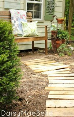 Garden Path From Pallets
