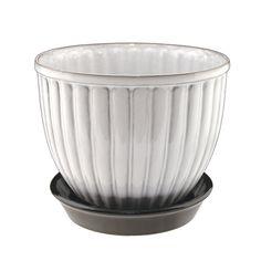 Nittsjö Keramik - Blomkruka N4 vit
