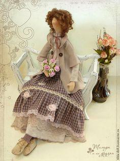 Коллекционные куклы ручной работы. Ярмарка Мастеров - ручная работа Кукла в стиле Бохо: Луиза. Handmade.