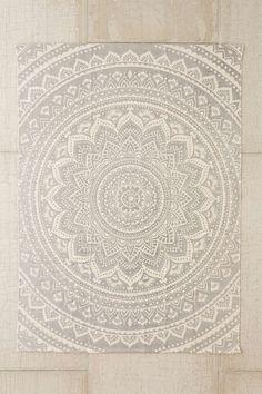 Sahara Medallion Grey 2x3 Printed Rug
