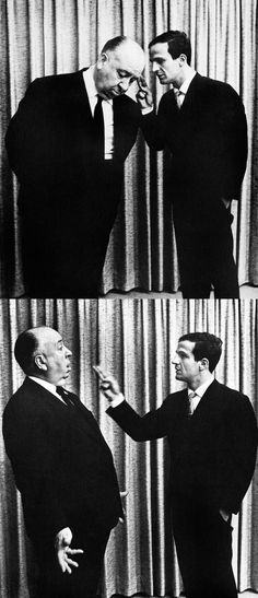 Alfred Hitchcock & François Truffaut, photo by Philippe Halsman, 1962