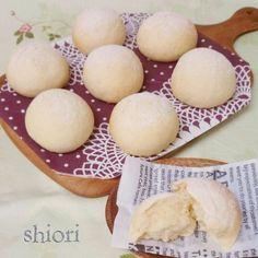 簡単!レンジ発酵・捏ねないフワッフワ白パン♪。