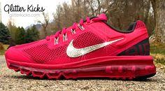 Nike Air Max 360 Running Shoes Blinged Out by ShopGlitterKicks 9e5e36da5435