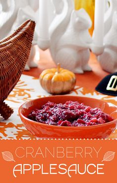 Cranberry Applesauce For Thanksgivukkah ~  This sauce is the new essential topping for latkes and turkey. It is killer!  Recipe @: http://www.buzzfeed.com/christinebyrne/cranberry-applesauce