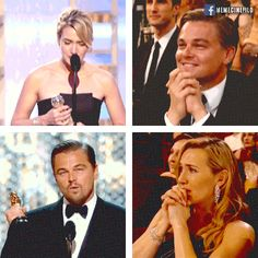 Leonardo DiCaprio and Kate Winslet: forever Jack and Rose! via GIPHY