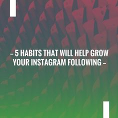 5 Habits That Will Help Grow Your Instagram Following http://kattdoesthings.com/2017/12/14/5-habits-to-grow-your-instagram-following/?utm_campaign=crowdfire&utm_content=crowdfire&utm_medium=social&utm_source=pinterest