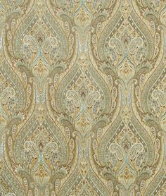 upholstery fabric dining room (Waverly Karaj Paisley Mineral)
