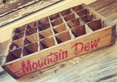 #antique Very Rare Vintage 1974 Mountain Dew Bottling Co Wood Soda Pop Crate please retweet