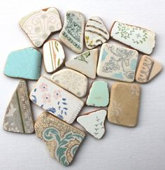sea glass pottery genuine seaglass beach pottery white based craft and jewelry supplies beach home decor (81)