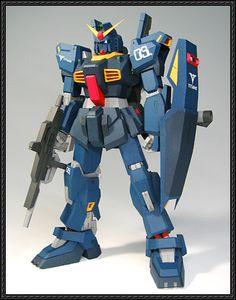 RX-178 Gundam Mk-II (Titans) Free Paper Model Download - http://www.papercraftsquare.com/rx-178-gundam-mk-ii-titans-free-paper-model-download.html