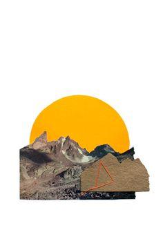 NEON SUNSET Art Print Surreal Collage, Collage Art, Sea Cave, Sunset Art, Ceramic Art, Illustration Art, Illustrations, Contemporary Art, Artsy