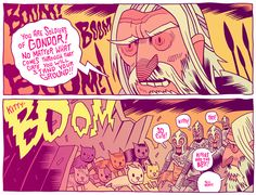The Siege of Minas Tirith by Dan Hipp