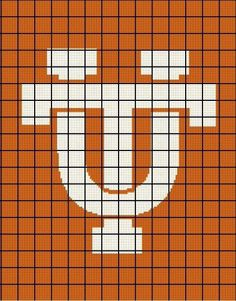 $5 - University of Tennessee Vols - Crochet Afghan Pattern - Volunteers by AngelicCrochetDesign on Etsy