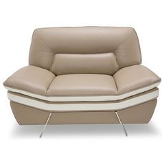 Michael Amini Mia Bella Carlin Leather Club Chair Upholstery: Leather Match Mocha