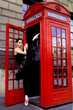 ..in a telephone box (I can't see telephone boxes without thinking Dr. Who....anyone else?)