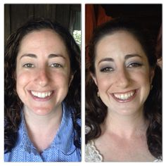 Before and after of bride, Liz