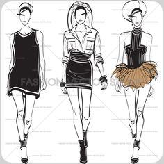 Three models on the catwalk. ®Yordanka Poleganova