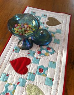 Candy Hearts Table Runner Tutorial