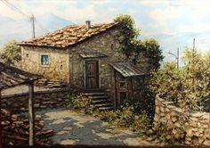 Amedeo Borzone_Paesaggio_olio su tela