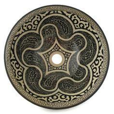 Marokkaanse waskom - 40 cm | Black&White Circles