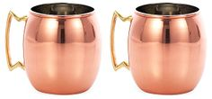 S/2 Copper Moscow Mule Mugs | With a Twist | One Kings Lane