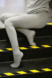 Foot Traffic combed cotton tights are thick, durable and comfortable. $20. It will be under 100 degrees, eventually.