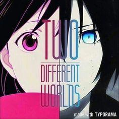 Dos mundos diferentes... <3