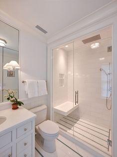 cottage white bathroom design