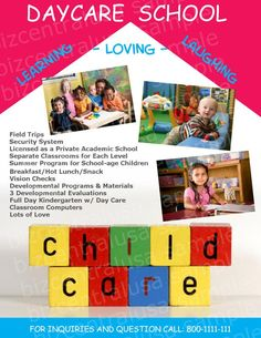 Free Child Care Flyer Templates Early Learning Preschool Flyer - Daycare flyers templates free