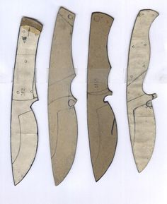 Make your own knife - Blade shapes