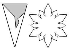 Piedras,papeles y tijeras: Copos de nieve de papel